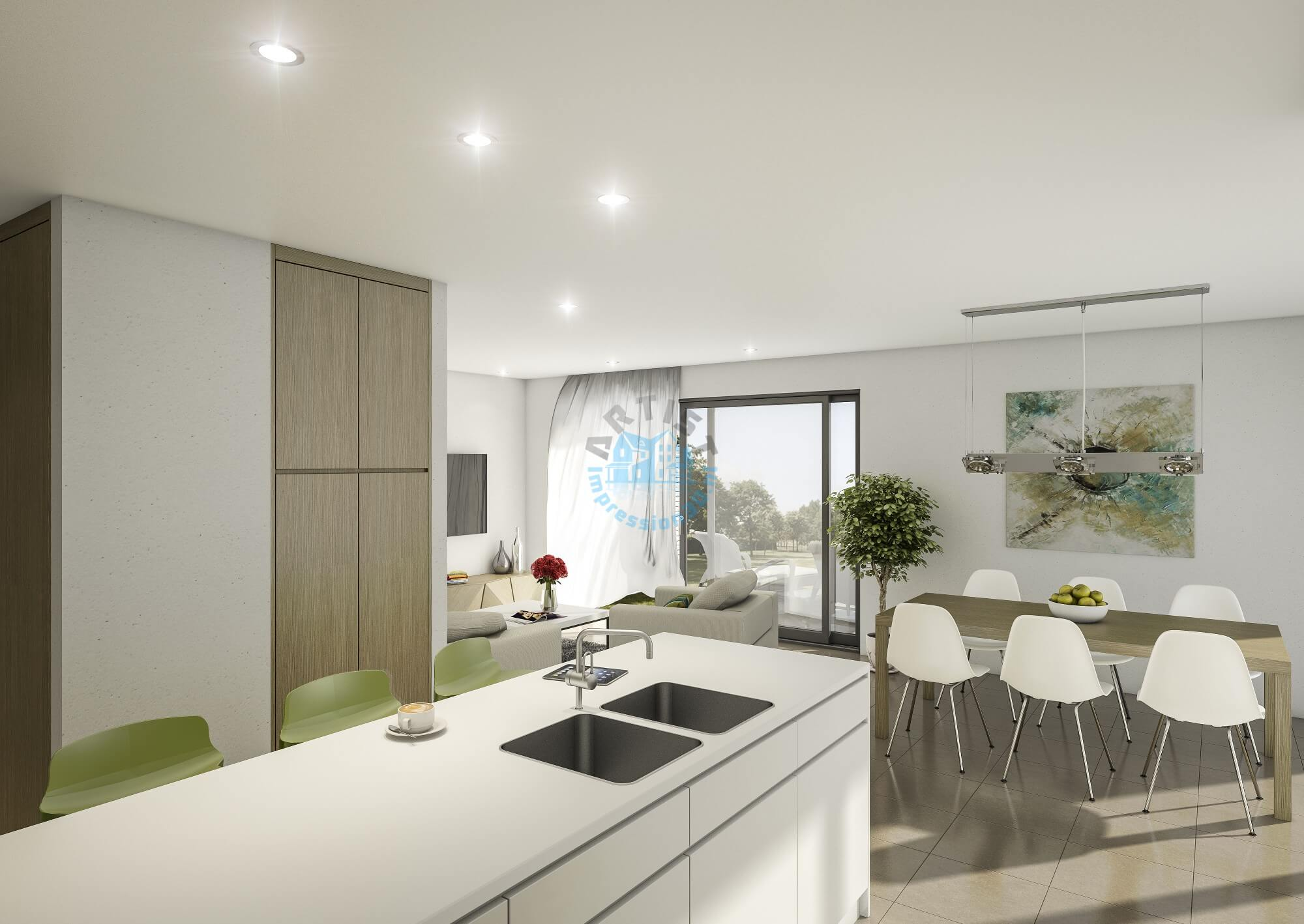 3d visualisatie bureau voor bestaande architectuur en for Interieur 3d