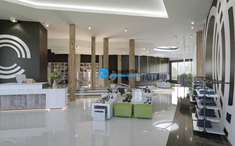 3D Interieur Visualisatie Winkelpand Amsterdam