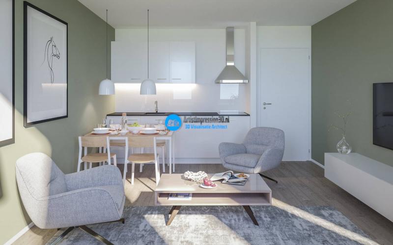 Interieur Keuken Impressie in 3D Roosendaal