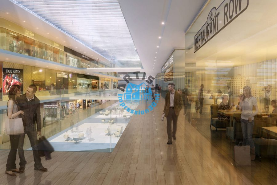 Dubai Mall 3D Interior Visualization