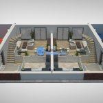 3D plattegrond 1e verdieping woning