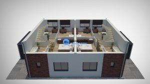 3D plattegrond huis 2e verdieping
