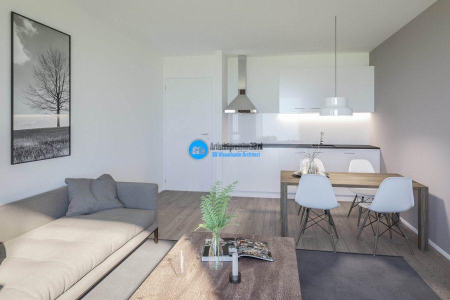 Keuken 3D Impressie Roosendaal