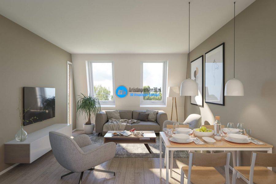 Interieur Woning Impressie in 3D Roosendaal