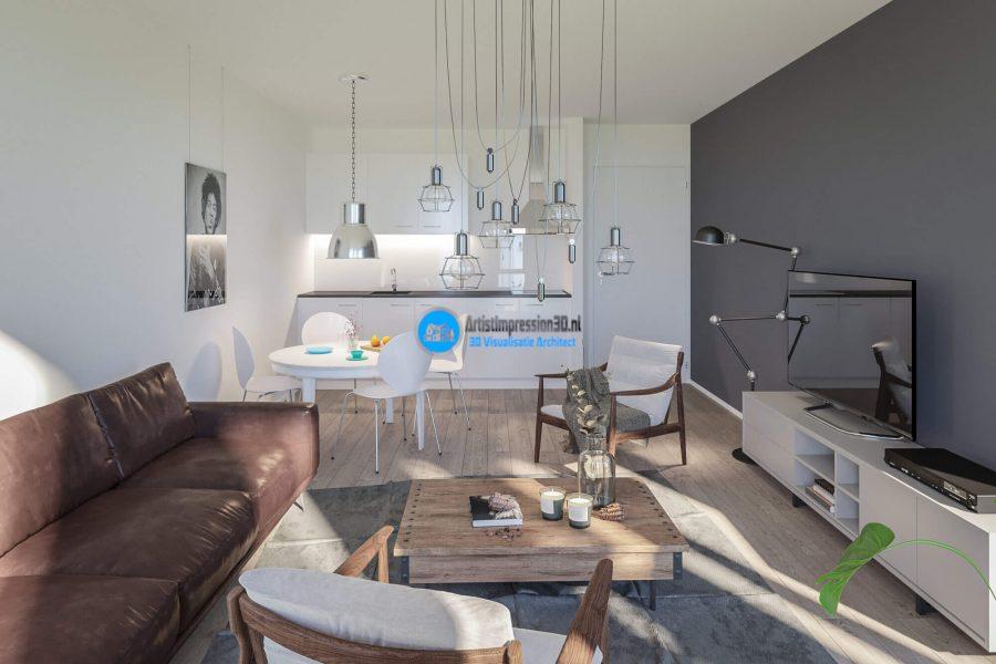 Keuken Impressie in 3D