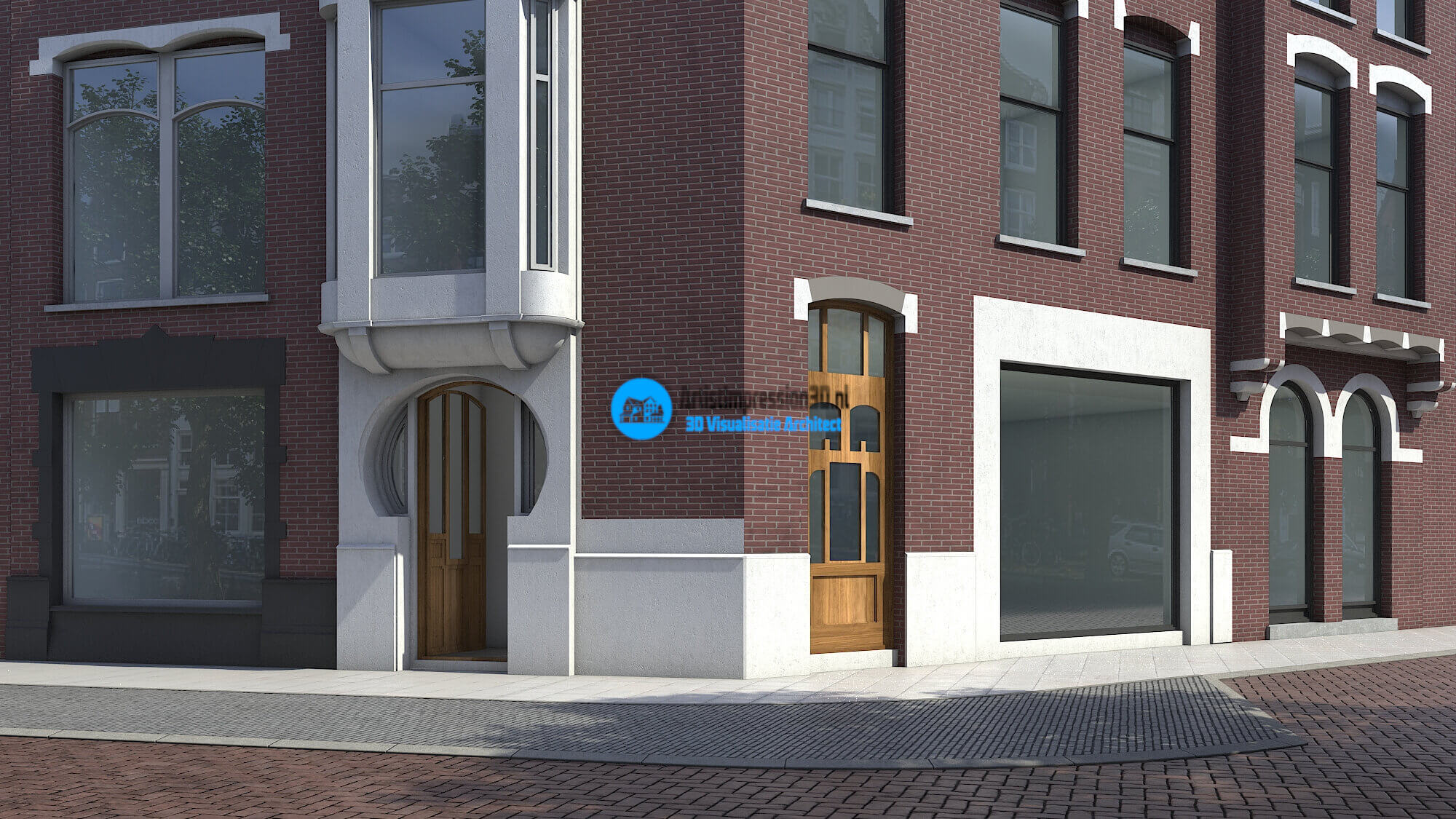 3D Exterieur Visualisatie Winkelpand Amsterdam